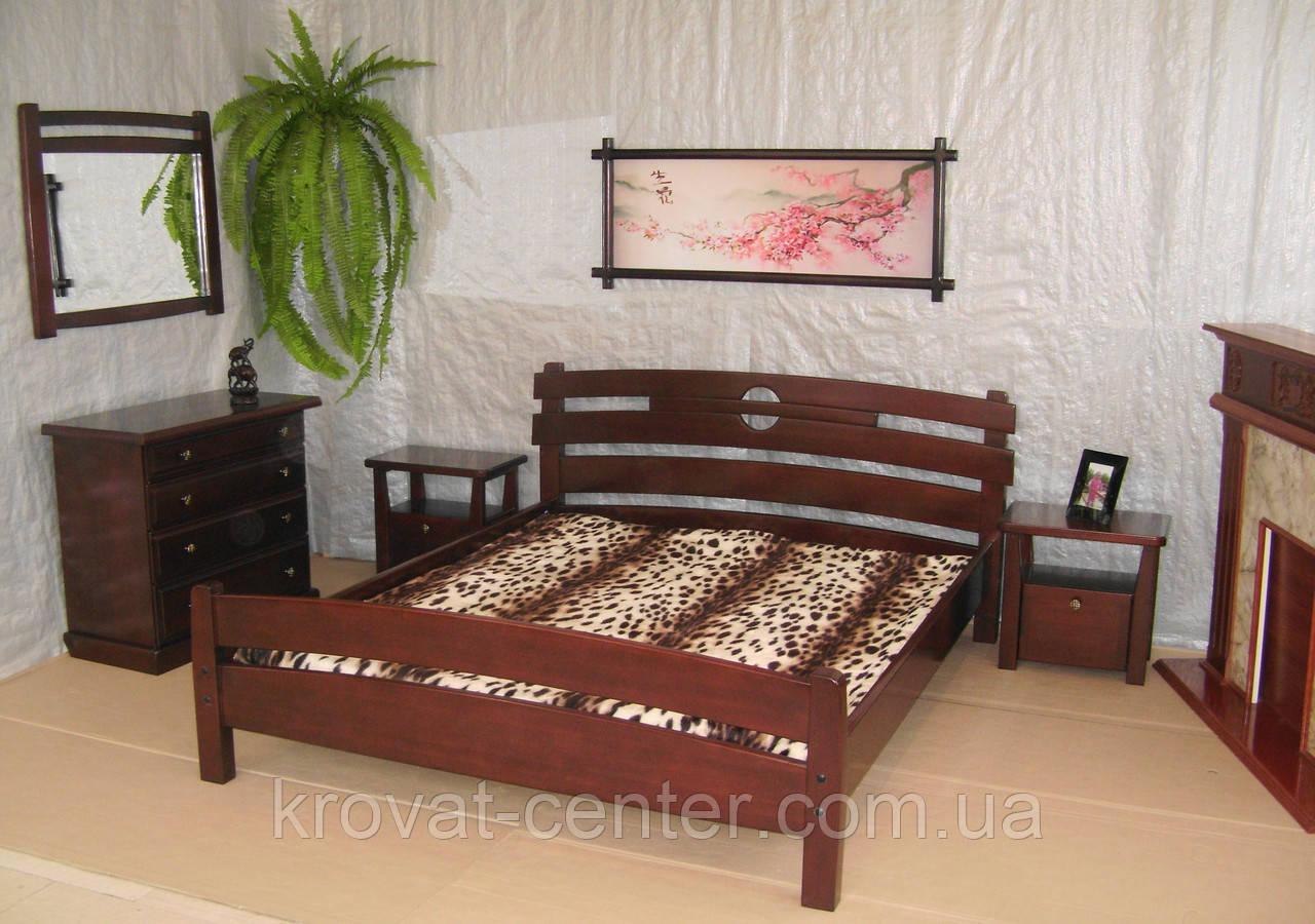 """Спальний гарнітур з дерева від виробника """"Токіо"""" (ліжко з тумбочками)"""