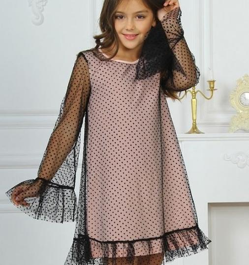 Детское платье  -  Хлопок + фатин