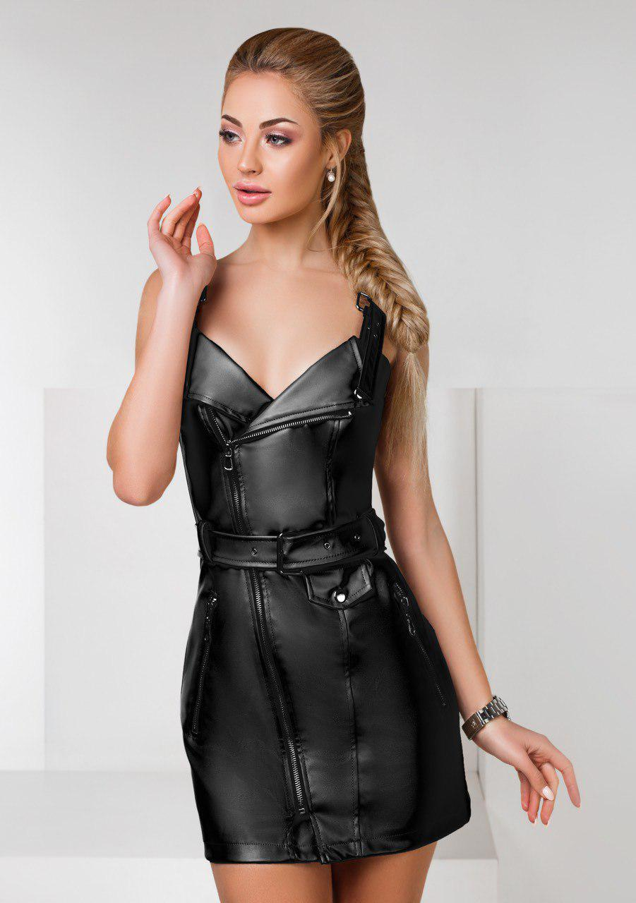 """Стильное платье мини """" Экокожа """" Dress Code"""