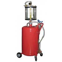 Установка для вакуумной откачки масла с мерной колбой 80л G.I. KRAFT B8010KV Код:20198025
