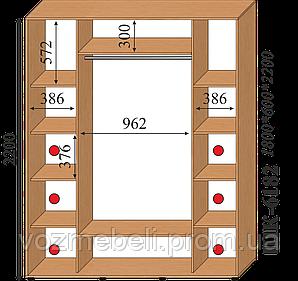 Шкаф-купе 1,8*0,6*2,2 (шк-6182)