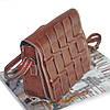 Женская сумка плетеная 01527922716172dark-brown темно-коричневая, фото 2