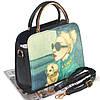 Женская сумка Дама с собачкой 01539555020274black черная, фото 2