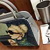 Женская сумка Дама с собачкой 01539555020274black черная, фото 5