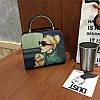 Женская сумка Дама с собачкой 01539555020274black черная, фото 8