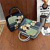 Женская сумка Дама с собачкой 01539555020274black черная, фото 9