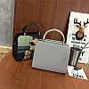Женская сумка Дама с собачкой 01539555020274black черная, фото 10