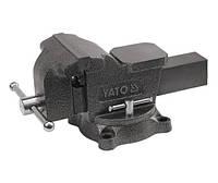 Тиски слесарные поворотные 125мм YATO YT-6502 Код:23316582