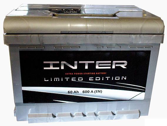 Аккумулятор Westa INTER 60Ah 600A Premium, фото 2