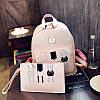 Комплект женский рюкзак и клатч три кота 01537342435780grey серый, фото 5