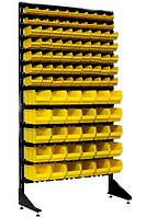 Пластиковые ящики на стеллаже под метизы  Жёлтый