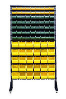 Пластиковые ящики на стеллаже под метизы  Жёлто-зеленый