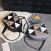 Женский рюкзак с аппликацией в треугольники 01544867268142black черный, фото 5