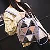 Женский рюкзак с аппликацией в треугольники 01544867268142black черный, фото 8