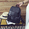 Женский рюкзак с накладным карманом 01536724036026black черный, фото 6