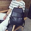 Женский рюкзак с накладным карманом 01536724036026black черный, фото 7