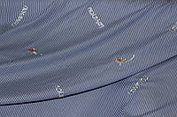 Ткань рубашка полоса с вышивкой, LOVeY Тренд сезона 70%хб,30%ПЭ, фото 1