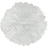 Декор бумажные Помпоны 35см (белый 0018)