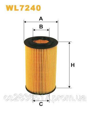Масляный фильтр WL7240WIX (OX153D3, 1 457 437 001)
