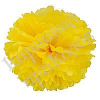 Декор бумажные Помпоны 35см (желтый 0019), фото 1