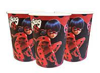 """Стаканчики одноразовые праздничные детские """"  Lady Bug """" Леди баг 10 шт./уп."""
