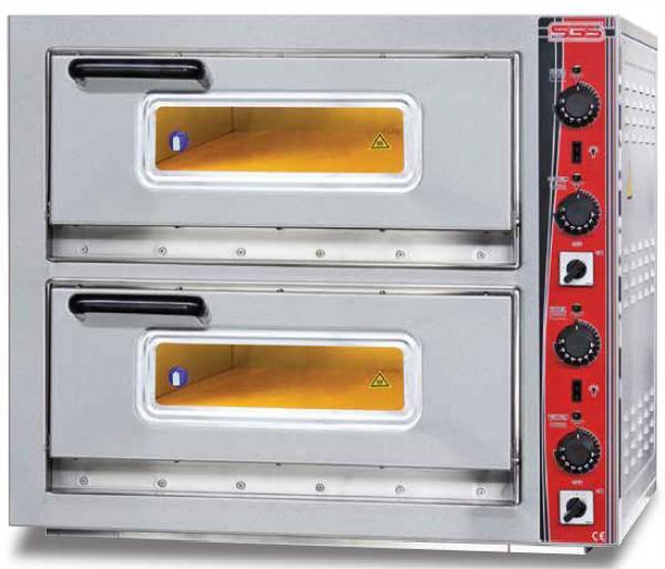 Печь электрическая для пиццы сдвоенная SGS РО 6262 DЕ