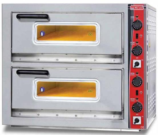 Печь электрическая для пиццы сдвоенная SGS РО 6262 DЕ, фото 2