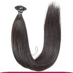 Натуральные Славянские Волосы на Капсулах 60 см 100 грамм, Черный №1A