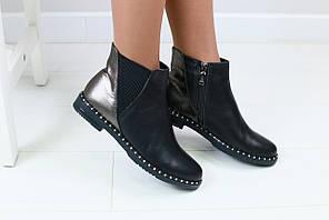 Женские ботинки на резинке, на байке