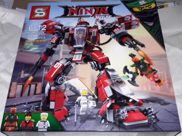 Конструктор sy 926 Ninja Ниндзя Ninjago Ниндзяго Огненный робот Кая 737 дет.