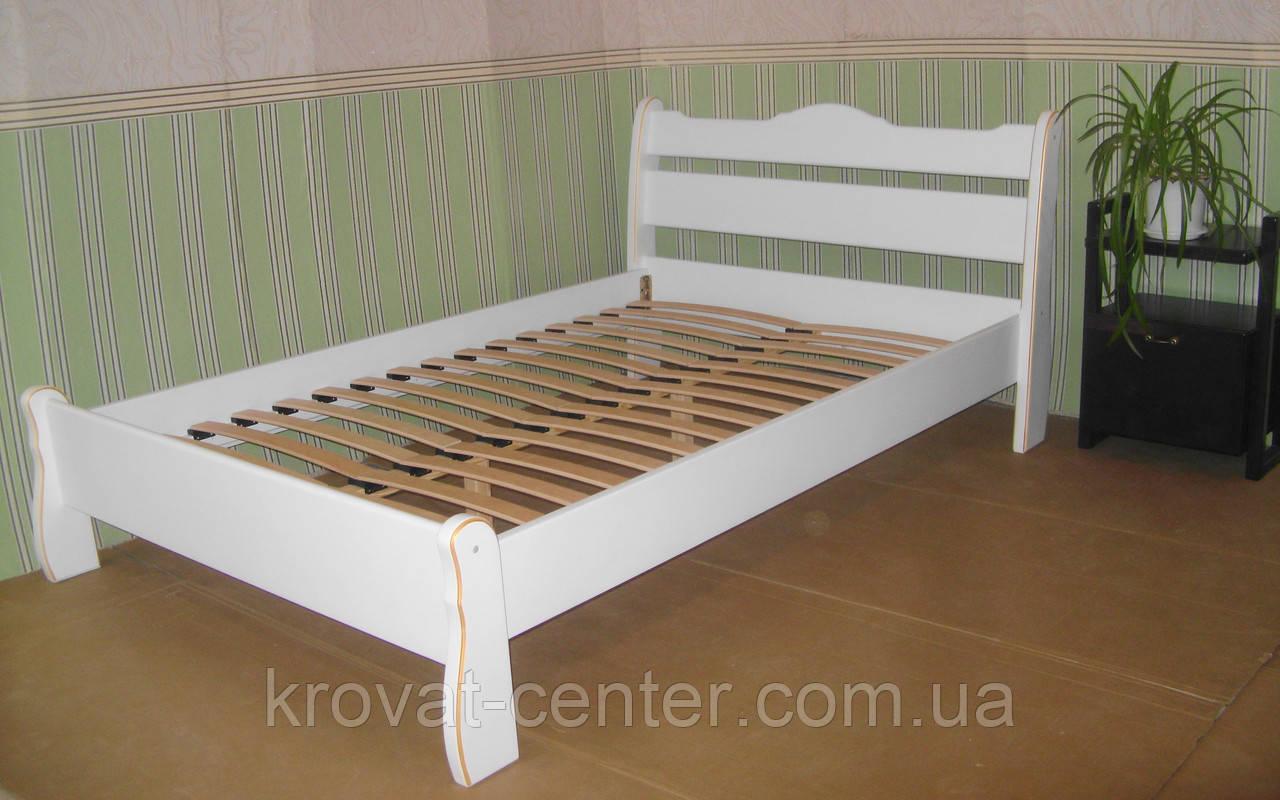 """Белая двуспальная кровать """"Грета Вульф"""""""