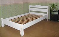 """Белая двуспальная кровать из массива дерева """"Грета Вульф"""""""