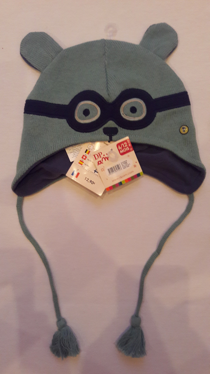 Шапочка для мальчика DPam мишка