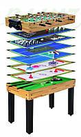 Игровой стол 12 в 1 настольный футбол, бильярд, аэрохоккей, теннис