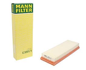 Воздушный фильтр MANN-FILTER C3251/1  Renault Trafic 1.9dCi/DTI+Opel Movano-01>+Kangoo1.9dCi/DTI-00>Германия