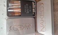 Набор кистей для макияжа  NAKED 3 (метал.упаковка) 12 шт(Копия), фото 1