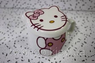 Чашка с крышкой Hello Kitty