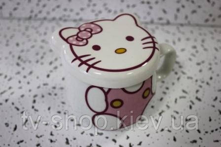 Чашка с крышкой Hello Kitty