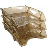 Лоток для бумаги горизонтальный пластик KOH-I-NOOR Универсал 75414*_Прозрачный коричневый