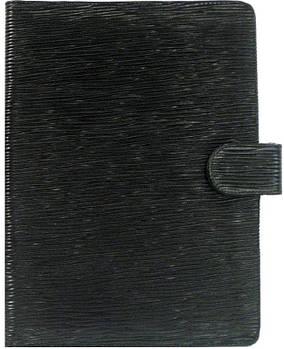 Обложка кожаная для ежедневника А5 Bond_1170 кожа ролекс синяя