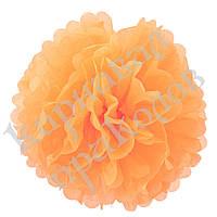 Декор бумажные Помпоны 40см (персиковый 0012), фото 1