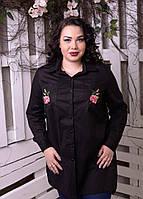 Рубашка с вышивкой для пышных женщин, с 48-82 размер, фото 1