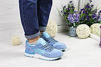 Кроссовки женские  Asics Gel Lyte V  (голубые), ТОП-реплика, фото 1