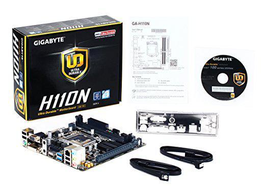 """Материнская плата Gigabyte GA-H110N s.1151 DDR4 """"Over-Stock"""" Б/У"""