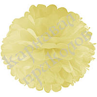 Декор бумажные Помпоны 40см (шампань 0017), фото 1