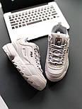 "Кроссовки Fila Disruptor II ""White"". Натуральная кожа. Живое фото (Реплика ААА+), фото 5"