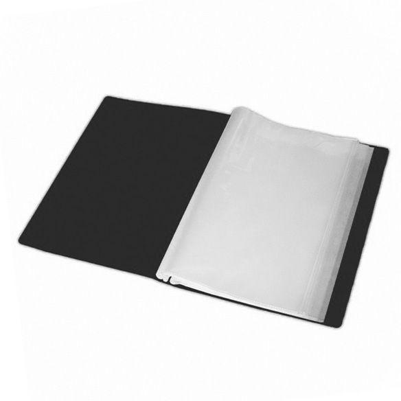 Папка с 40 файлами А4 Buromax 3617_Черный