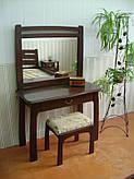 """Туалетный столик """"Для королевы"""" (столик, пуфик, зеркало). Массив - сосна, ольха, береза, дуб."""