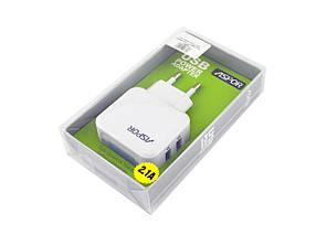 СЗУ Aspor A838 iPad c LED подсветкой на 2 USB 2,1A , фото 2