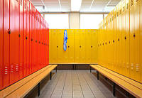 Шкаф для одежды ШОМ Одежные шкафы изготовлены из высококачественной листовой стали; вентиляции за счет двух